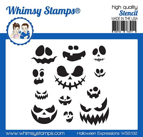 Whimsy Stamps HALLOWEEN EXPRESSIONS Stencil WSS132 zoom image
