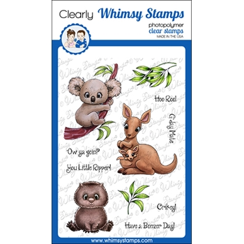 Whimsy Stamps AUSSIE FRIENDS Clear Stamps C1362