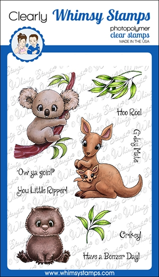Whimsy Stamps AUSSIE FRIENDS Clear Stamps C1362 zoom image