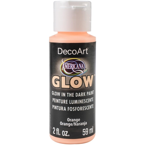 DecoArt ORANGE GLOW IN THE DARK Acrylic Paint da379 Preview Image