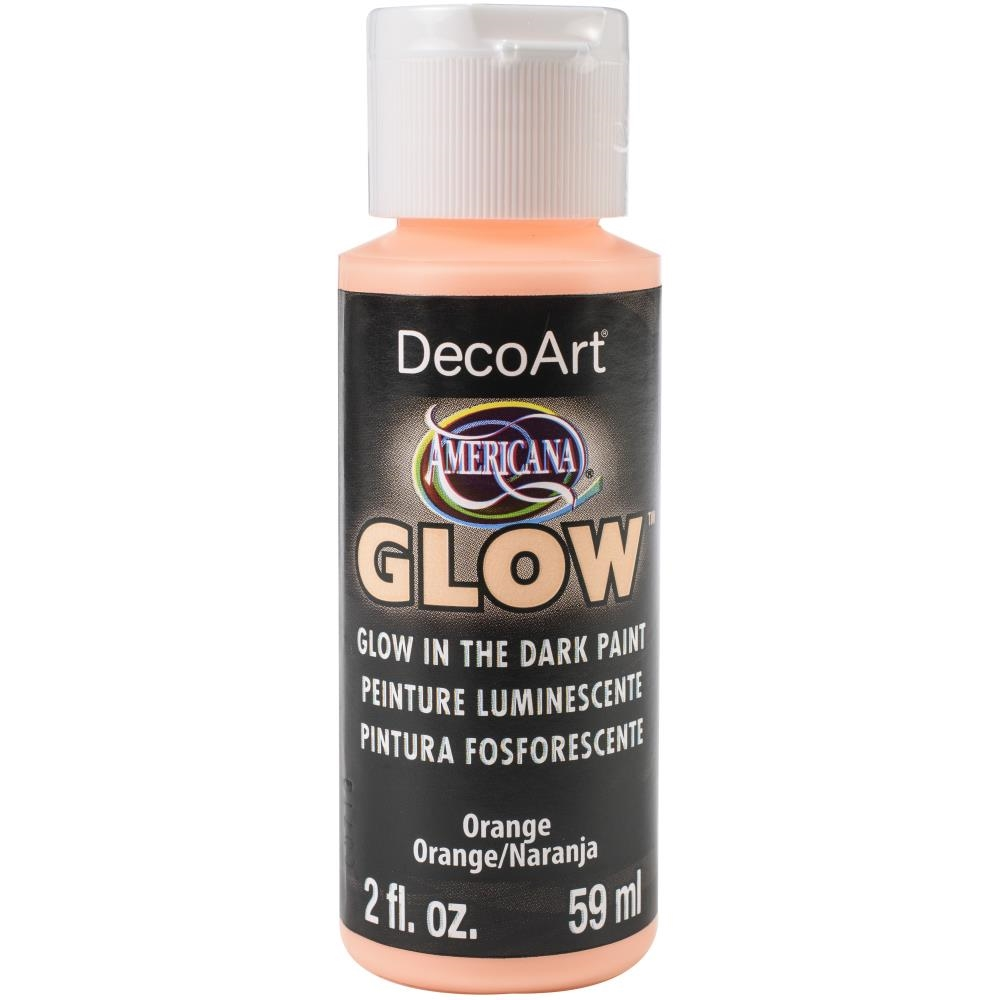 DecoArt ORANGE GLOW IN THE DARK Acrylic Paint da379 zoom image