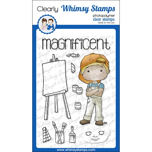 Whimsy Stamps POLKA DOT PALS COLTON Clear Stamps BS1017 Preview Image