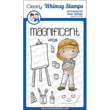Whimsy Stamps POLKA DOT PALS COLTON Clear Stamps BS1017