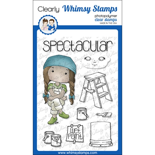 Whimsy Stamps POLKA DOT PALS BEAU Clear Stamps BS1016 Preview Image