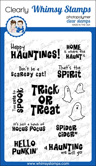 Whimsy Stamps SPIRITED SENTIMENTS Clear Stamps CWSD341 zoom image