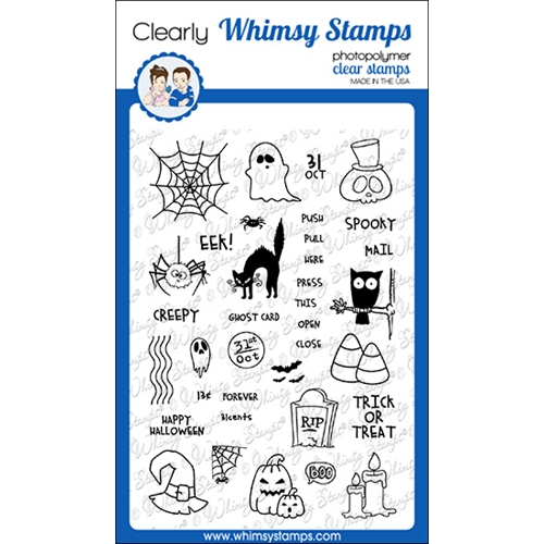 Whimsy Stamps HALLOWEEN POSTAGE Clear Stamps CWSD339 Preview Image