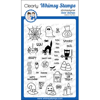 Whimsy Stamps HALLOWEEN POSTAGE Clear Stamps CWSD339