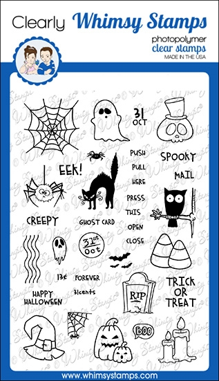 Whimsy Stamps HALLOWEEN POSTAGE Clear Stamps CWSD339 zoom image