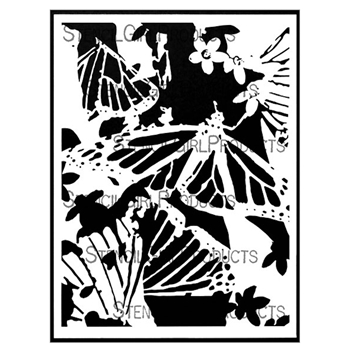 StencilGirl ROOTED IN NATURE LARGE MONARCH 9x12 Stencil l812