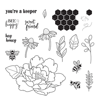 Fun Stampers Journey SWEET AS HONEY Cling Stamps SS-0708