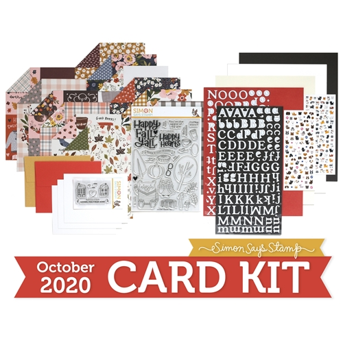 Simon Says Stamp Card Kit of the Month October 2020 HAPPY FALL Y'ALL ck1020 Preview Image