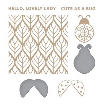 GLP-235 Spellbinders LOVELY LADYBUG Glimmer Hot Foil Plate and Die Cuts