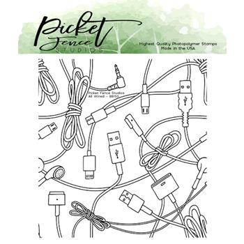 Picket Fence Studios ALL WIRED Clear Stamp bb150