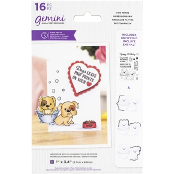Gemini PAW PRINTS Stamp And Die Set gemstdchrpaw