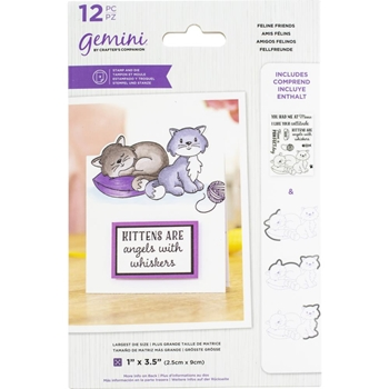 Gemini FELINE FRIENDS Stamp And Die Set gemstdchrfel