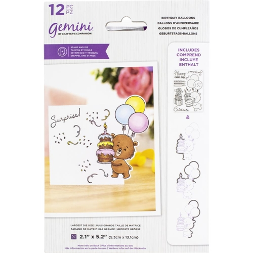 Gemini BIRTHDAY BALLOONS Stamp And Die Set gemstdchrbal Preview Image
