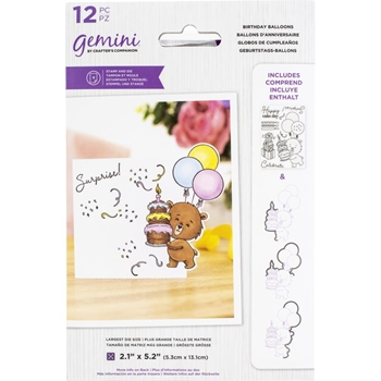 Gemini BIRTHDAY BALLOONS Stamp And Die Set gemstdchrbal