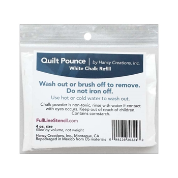 Hancy QUILT POUNCE WHITE CHALK REFILL 303243