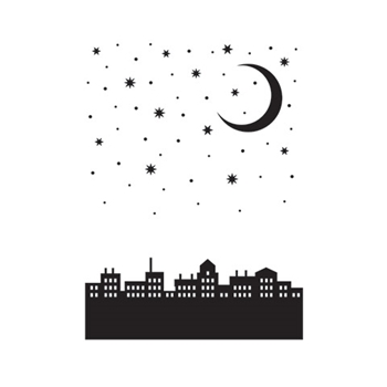 Darice CITY MOON Embossing Folder 30041351