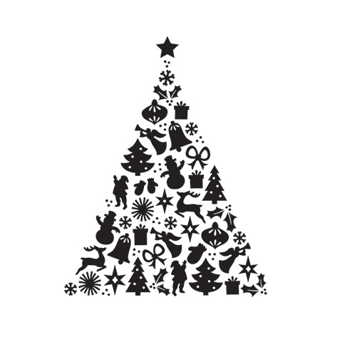 Darice PATTERN CHRISTMAS TREE Embossing Folder 30041350 Preview Image