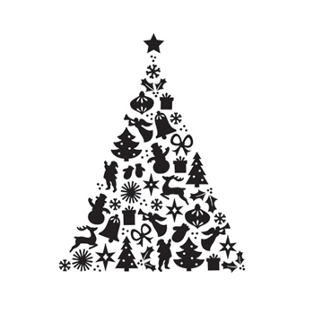 Darice PATTERN CHRISTMAS TREE Embossing Folder 30041350