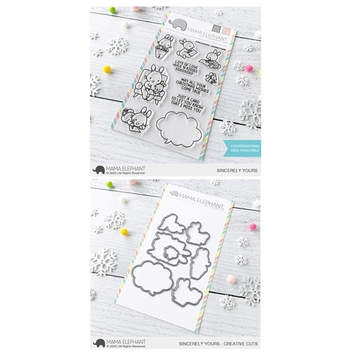 Mama Elephant Clear Stamp and Die MEPT827 Sincerely Yours SET Preview Image