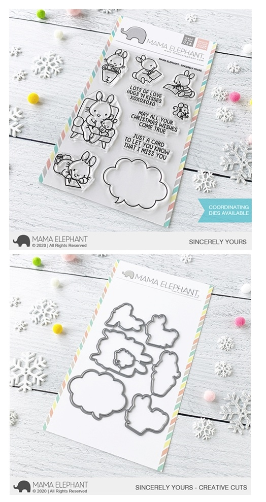 Mama Elephant Clear Stamp and Die MEPT827 Sincerely Yours SET zoom image