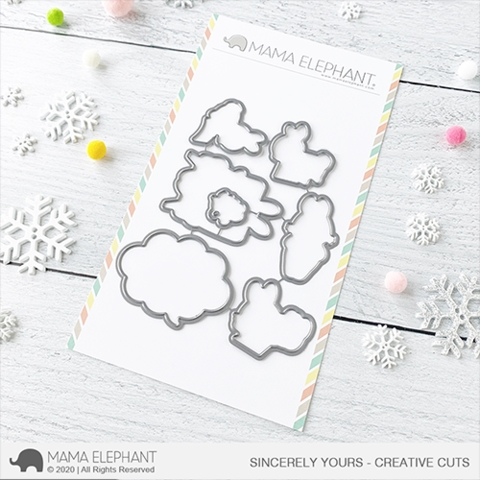 Mama Elephant SINCERELY YOURS Creative Cuts Steel Dies Preview Image
