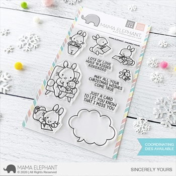 Mama Elephant Clear Stamps SINCERELY YOURS
