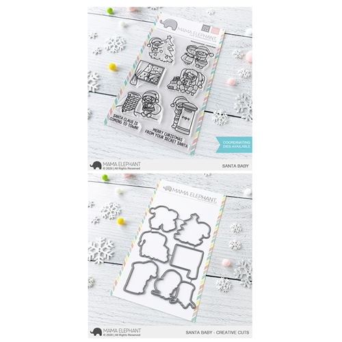 Mama Elephant Clear Stamp and Die MEPT830 Santa Baby SET Preview Image