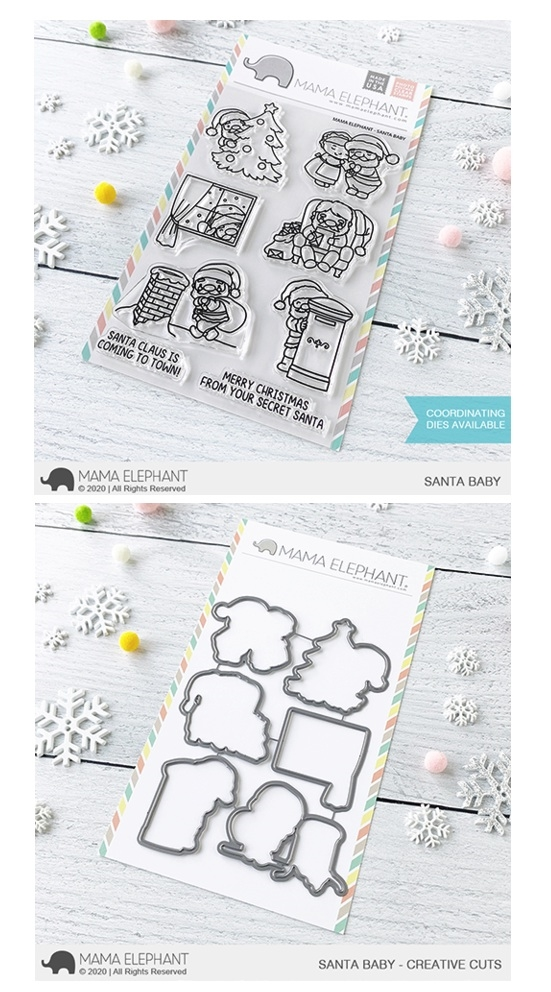 Mama Elephant Clear Stamp and Die MEPT830 Santa Baby SET zoom image