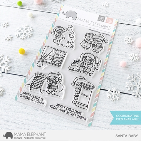Mama Elephant Clear Stamps SANTA BABY zoom image