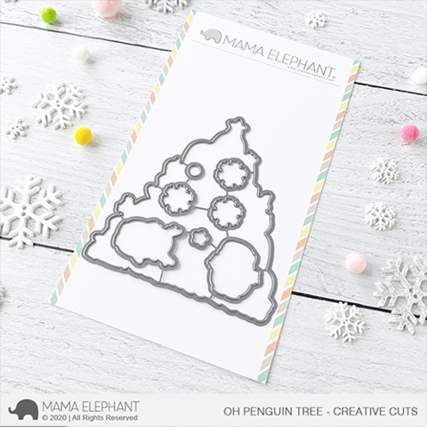 Mama Elephant OH PENGUIN TREE Creative Cuts Steel Dies Preview Image