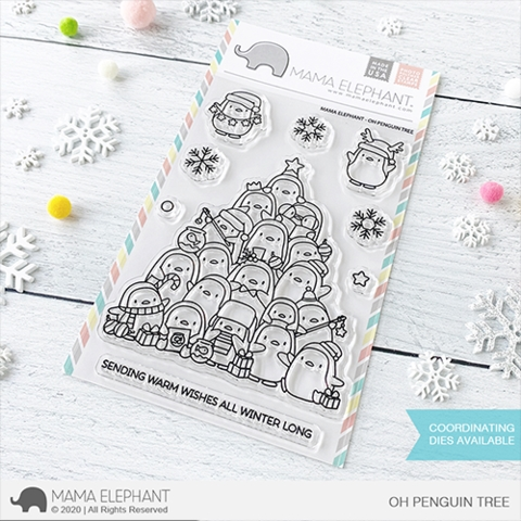Mama Elephant Clear Stamps OH PENGUIN TREE  Preview Image