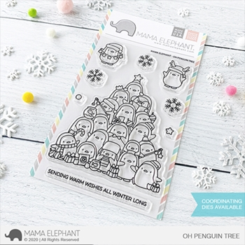 Mama Elephant Clear Stamps OH PENGUIN TREE