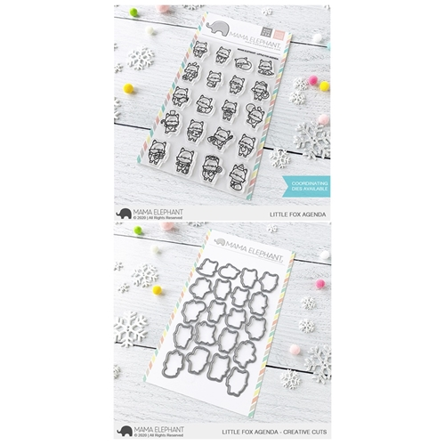 Mama Elephant Clear Stamp and Die MEPT836 Little Fox Agenda SET Preview Image