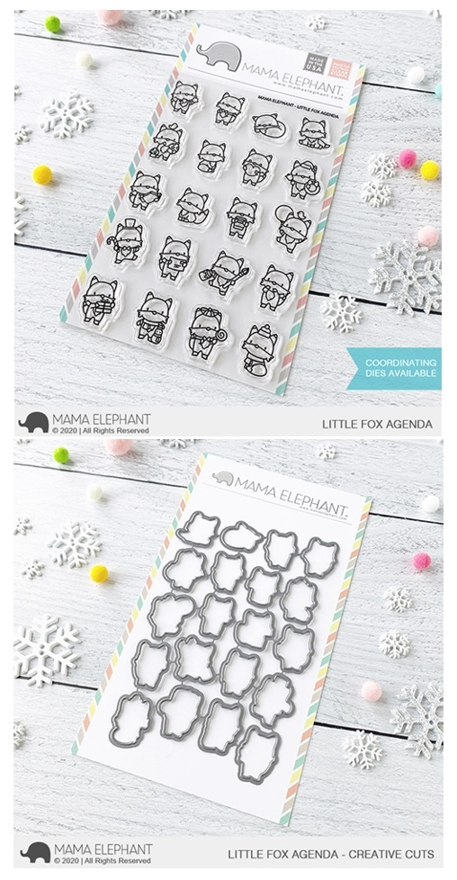 Mama Elephant Clear Stamp and Die MEPT836 Little Fox Agenda SET zoom image