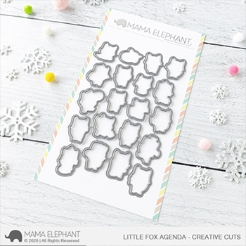 Mama Elephant LITTLE FOX AGENDA Creative Cuts Steel Dies