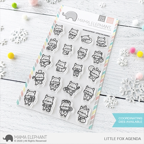 Mama Elephant Clear Stamps LITTLE FOX AGENDA Preview Image