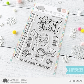 Mama Elephant Clear Stamps LET IT SNOW