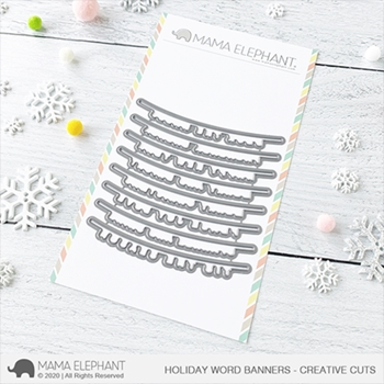 Mama Elephant HOLIDAY WORD BANNER Creative Cuts Steel Dies