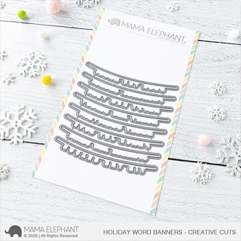 Mama Elephant HOLIDAY WORD BANNER Creative Cuts Steel Dies zoom image