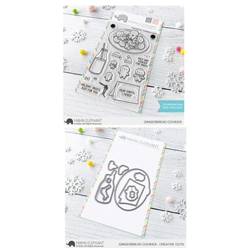Mama Elephant Clear Stamp and Die MEPT845 Gingerbread Cookies SET
