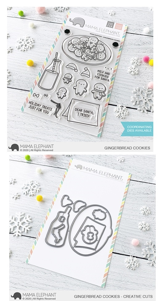 Mama Elephant Clear Stamp and Die MEPT845 Gingerbread Cookies SET zoom image