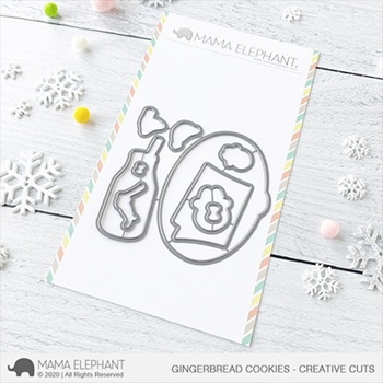 Mama Elephant GINGERBREAD COOKIES Creative Cuts Steel Dies