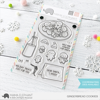 Mama Elephant Clear Stamps GINGERBREAD COOKIES