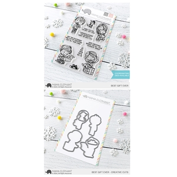 Mama Elephant Clear Stamp and Die MEPT849 Best Gift Ever SET