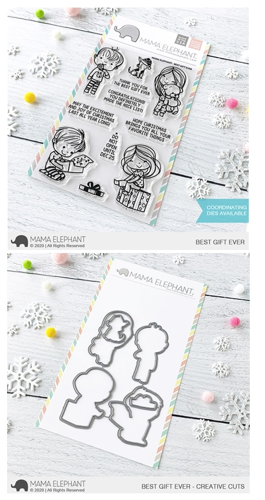 Mama Elephant Clear Stamp and Die MEPT849 Best Gift Ever SET zoom image