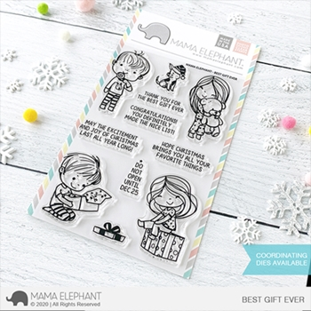 Mama Elephant Clear Stamps BEST GIFT EVER