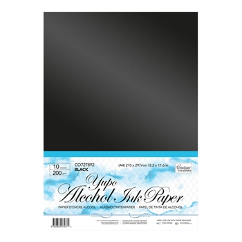 Couture Creations BLACK Alcohol Ink Paper co727892